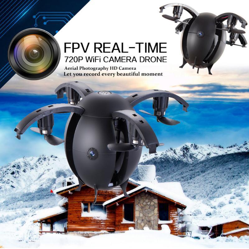 2017 En Forme D'oeuf Mini Fait Avec Caméra 0.3MP 668-A6HW RC Quadcopter Wifi APP Contrôle Selfie Drone Hélicoptère Avions FPV Dron