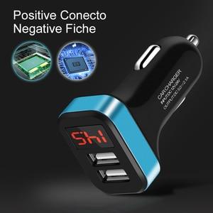 Image 2 - USB הכפול מטען לרכב עבור iPhone 11 פרו XR עם חכם LED תצוגת טלפון נייד מטענים לרכב מטען עבור huawei Mate 30 Pro Tablet