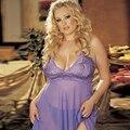 Cordón de las señoras Ropa Interior Fija Las Mujeres Sexy Lingerie Plus Tamaño 4XL Bodydoll ropa de Noche Dress + G string Conjunto de lencería lenceria sexy P20
