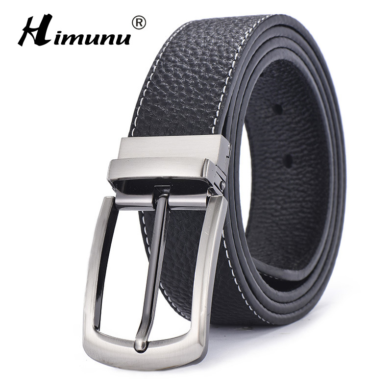 [HIMUNU] Brand Sided Use Cowhide Genuine Leather Be