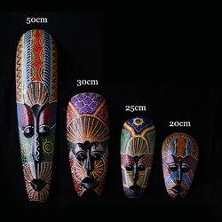 Великолепный цветной рисунок, Тайланд, ручная работа, для мужчин, для лица, деревянные маски, Креативные украшения для дома, бар, художествен...
