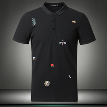 Поло для мужчин, новинка, Топ дизайнер, известный бренд, мужские шорты, повседневные рубашки с цветочным принтом, Большие Размеры M-4XL 5XL 81852
