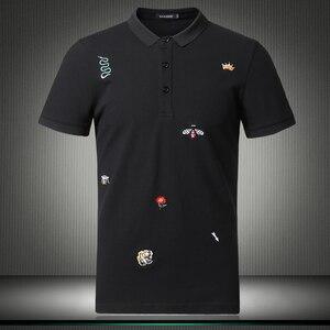 Image 1 - Мужская рубашка поло с цветочным принтом, размеры M 4XL/5XL