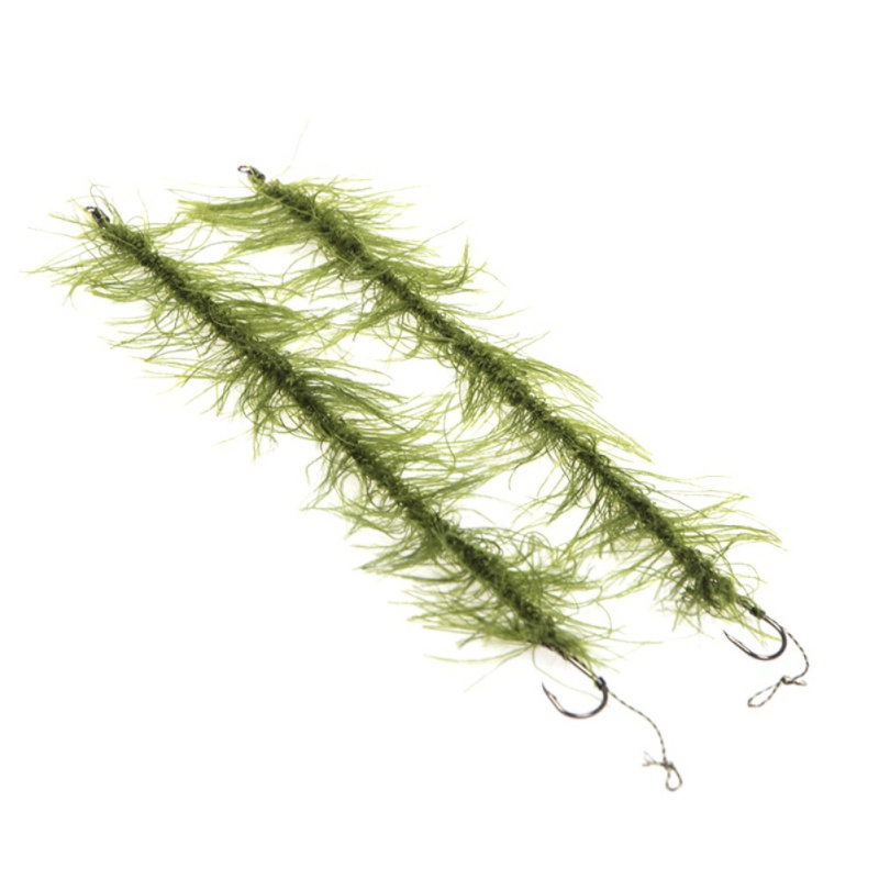 8pcs/Set Fishing Accessories Ready Made Hair Rigs Terminal Tackle with Hook and Weed Line Length Fish 20cm Hook Size 2 4 6 8