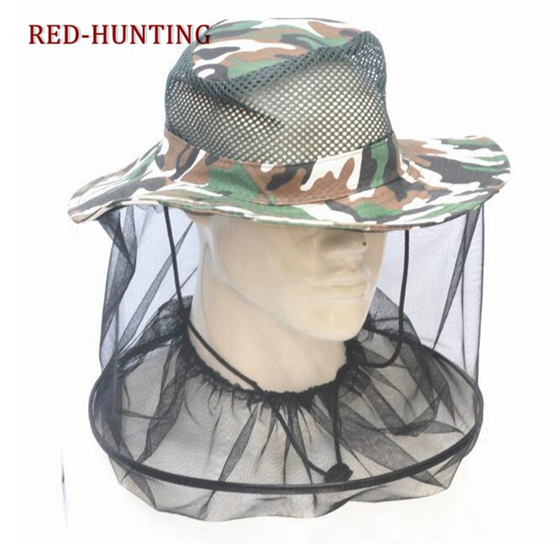 a7d96cf58c25c Detail Feedback Questions about Camouflage Fishing Hat Bee keeping Insects Mosquito  Net Prevention Cap Mesh Fishing Cap Outdoor Sunshade Lone Neck Head ...