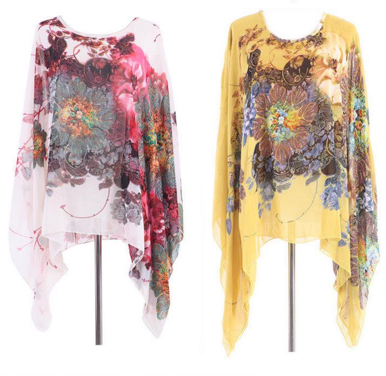 Lady Summer dress Wanita longgar floral print Kasual chiffon dress - Pakaian Wanita - Foto 6