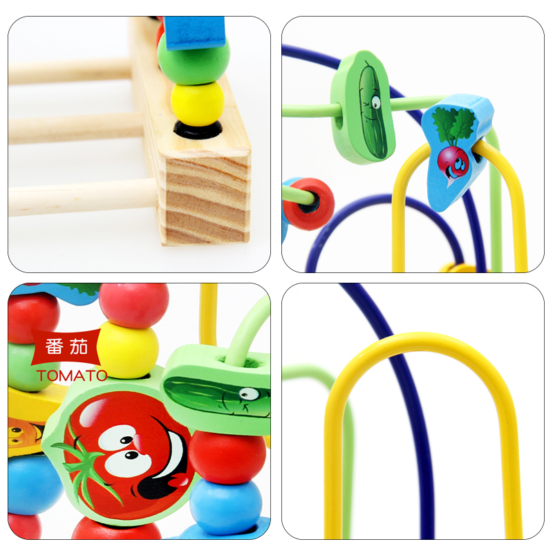 Image 5 - Wooden Math Toy Counting Circles Bead Abacus Wire Maze Roller Coaster Montessori Educational for Baby Kids-in Math Toys from Toys & Hobbies