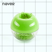 Never Fashion Apple Green Paper Clip Pin Office Supplies Round Magnet Box Metal Paper Clips Diary Diy Accessories for Girl Gifts