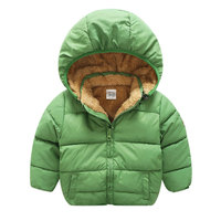 Baby Boy Hooded Jackets for Autumn Winter Solid Cloth Newbons Toddler Girl Warm Clothes Outfit Sport Coats Children's Clothing