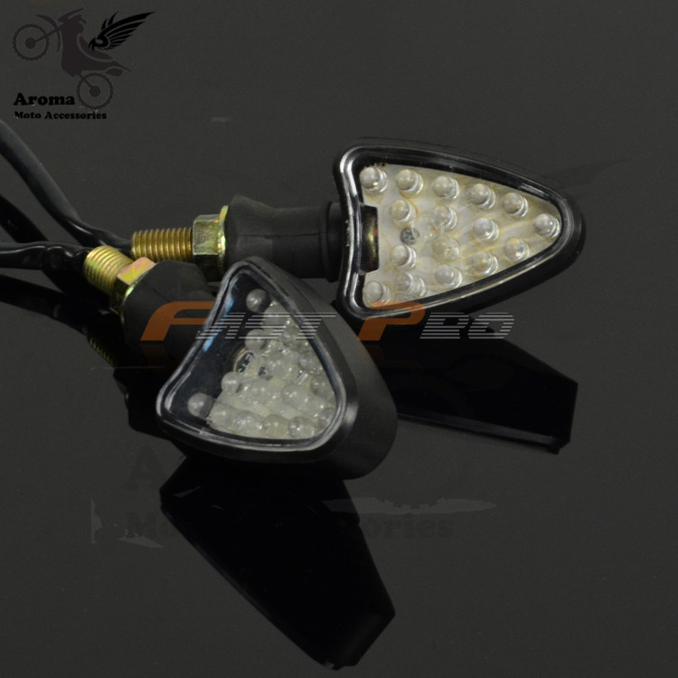 professional motorcycle indicator unviersal motorbike turn signal light motocross LED indicator amber ATV blinker lamp flashers