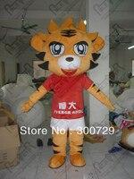 Exportação de alta qualidade mascote dos desenhos animados COSTUMES equipe de esporte projeto trajes da mascote do tigre tigre trajes para festa new animal dos desenhos animados