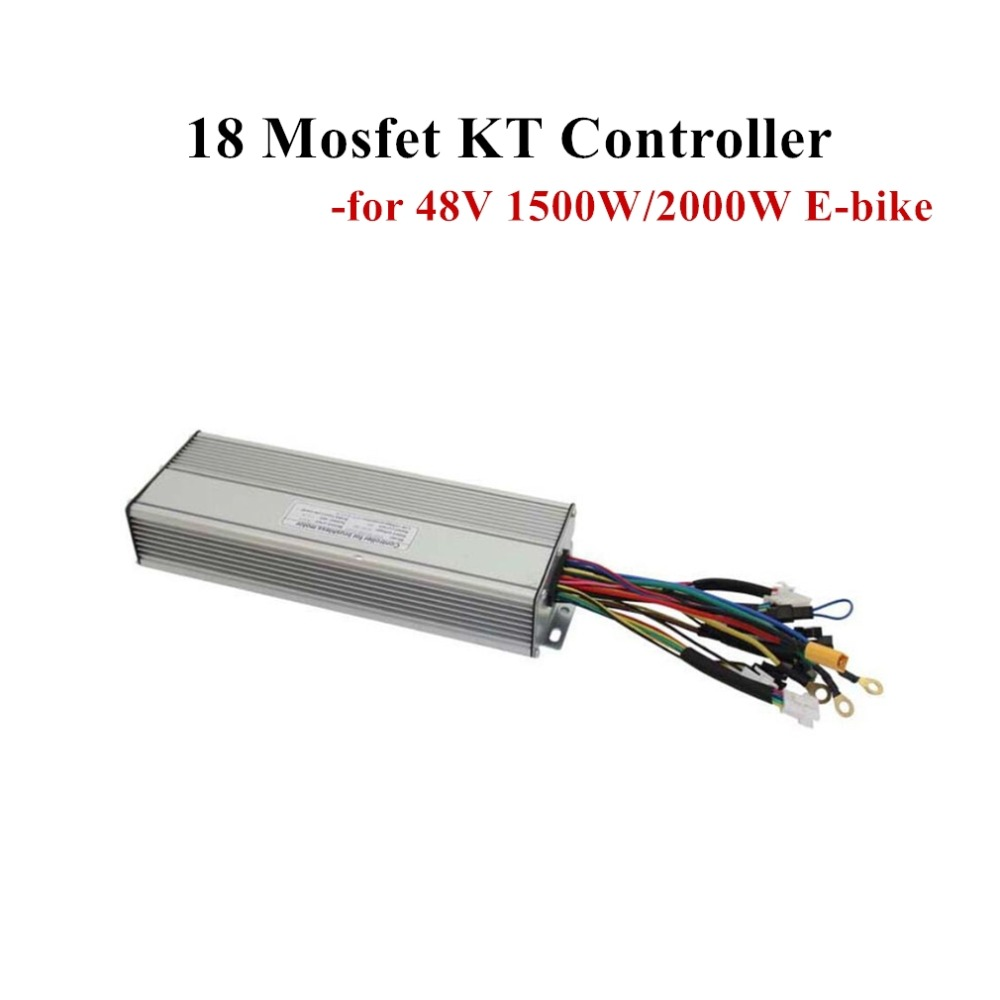 E-bike Controller 18 Mosfet KT Electric Bicycle Controller for Brushless Motor 48V 45A 1500W2000W