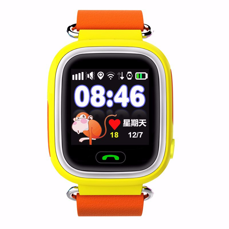 Q90 GPS Touch Screen WIFI Position Smart Watch Children SOS Call Location Finder Tracker Kid Safe Anti Lost Monitor pk Q50 Q80 children baby gps smart watch for kids safe q90 sim wifi touch screen sos call location tracker vibrate anti lost remote f27
