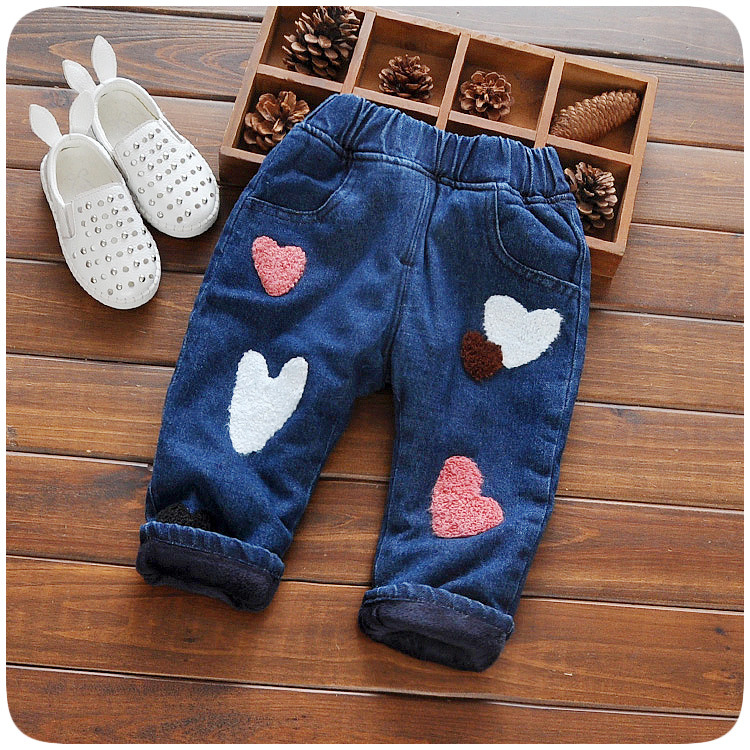 Baby Girls Winter Soft Jeans Fashion Pants Trousers Children's jeans Infant Soft Denim Pants 2017 new men jeans casual denim pants big size basic classic brand fashion straight jeans male denim trousers a3395