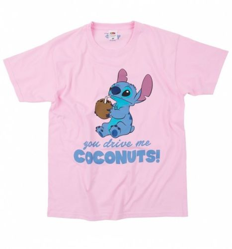 cf3d4fe99 Official Women's Lilo And Stitch You Drive Me Coconuts Boyfriend T Shirt  Cartoon t shirt men Unisex New Fashion tshirt-in T-Shirts from Men's  Clothing on ...
