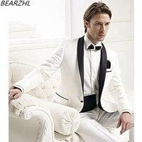 Мужские модные костюмы мужские смокинги для жениха белые Популярные 2019 строгий костюм одежда