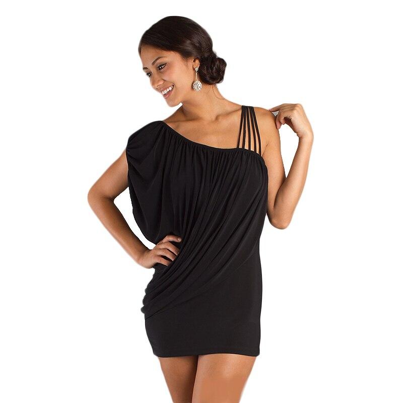 ヴィンテージ女性スパゲッティストラップミニドレス黒非対称ショートスリーブ緩いファッションカジュアルオフィスvestidos ropa mujer