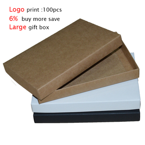 10pcs Large Gift Box With Lid Paper Boxes For Packaging Small Carton box Kraft Box Soap Packing Black White gift box packaging(China)