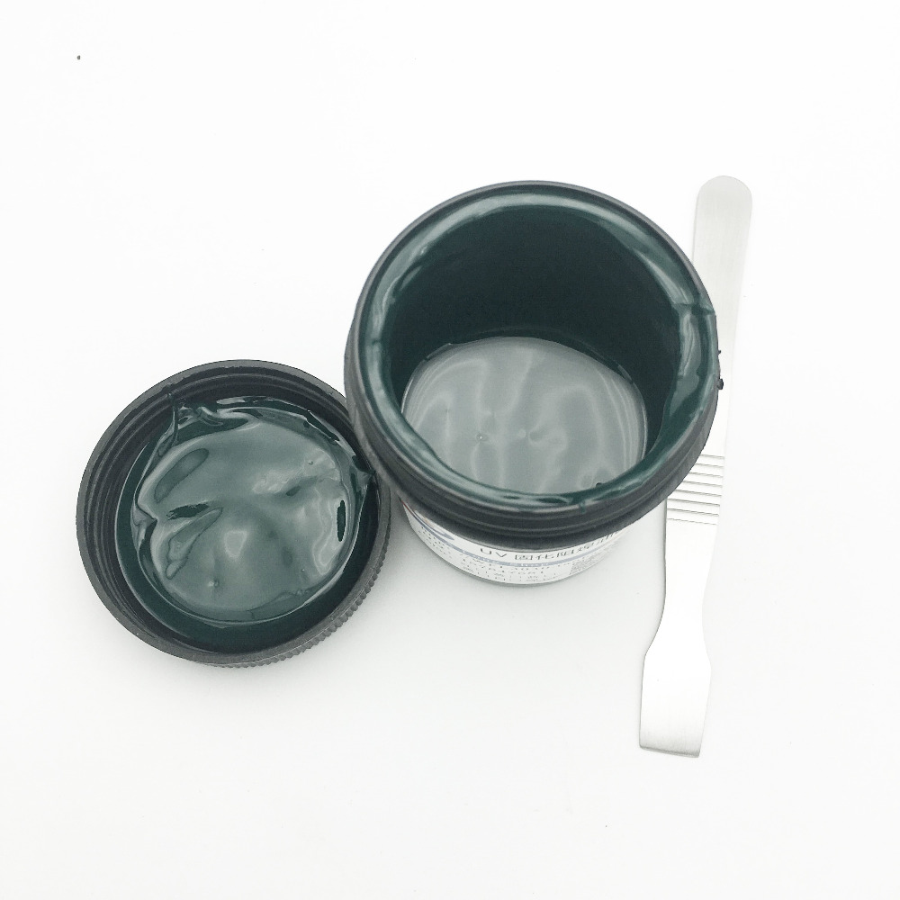 PCB UV Photosensitive Inks Green PCB UV Curable Solder Resist Ink Solder Mask UV Ink Paste+1pac ESD scraper sharpener polishing wax paste metals chromium oxide green abrasive paste chromium oxide green polishing paste