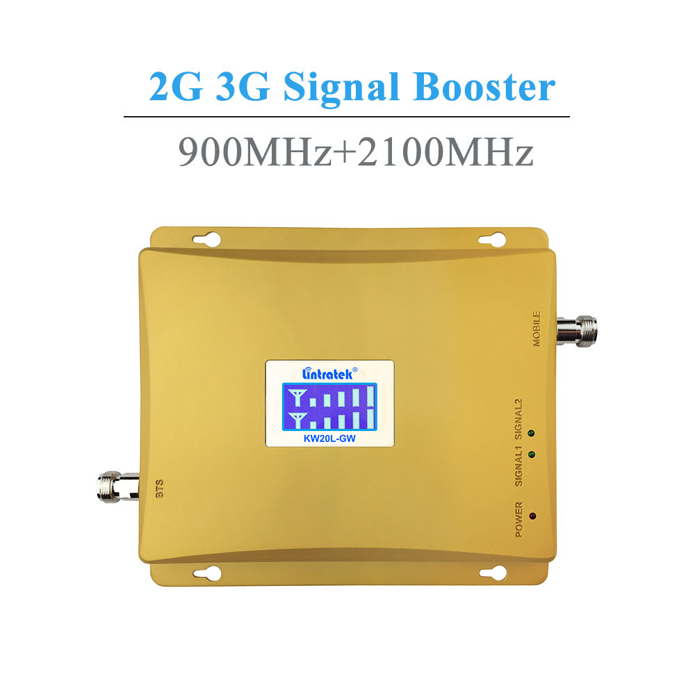 Image 2 - Powerful LCD 3G GSM Cellular Signal Booster Repeater 900MHz 2100MHz UMTS Mobile Cell Phone 3G Amplifier Kit Two Indoor Antenna @-in Signal Boosters from Cellphones & Telecommunications