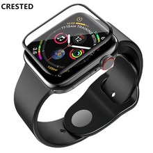 CRESTED Tempered Glass For Apple Watch band apple watch 4 3 iwatch 42mm 38mm  444mm 40mm 3D curved surface 9H Screen Protector