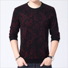 YAXITE Autumn Winter Mens T Shirts Print Black Brand Clothing For Man's Long Sleeve T-Shirts Slim Plus Size Tops Tees 9205