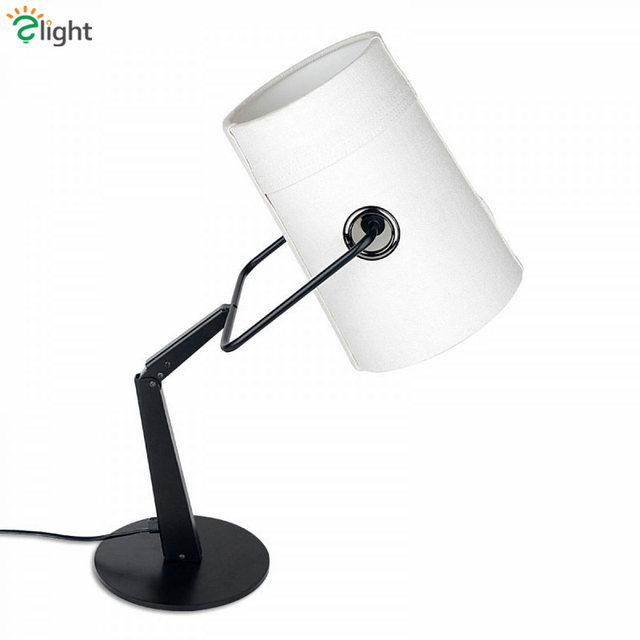 Italy Fork Led Table Lamp R7S Linen Lampshade Minimalism Desk Lamp Study Reading Light Bedside Lamp Lustre Luminarie Lamparas