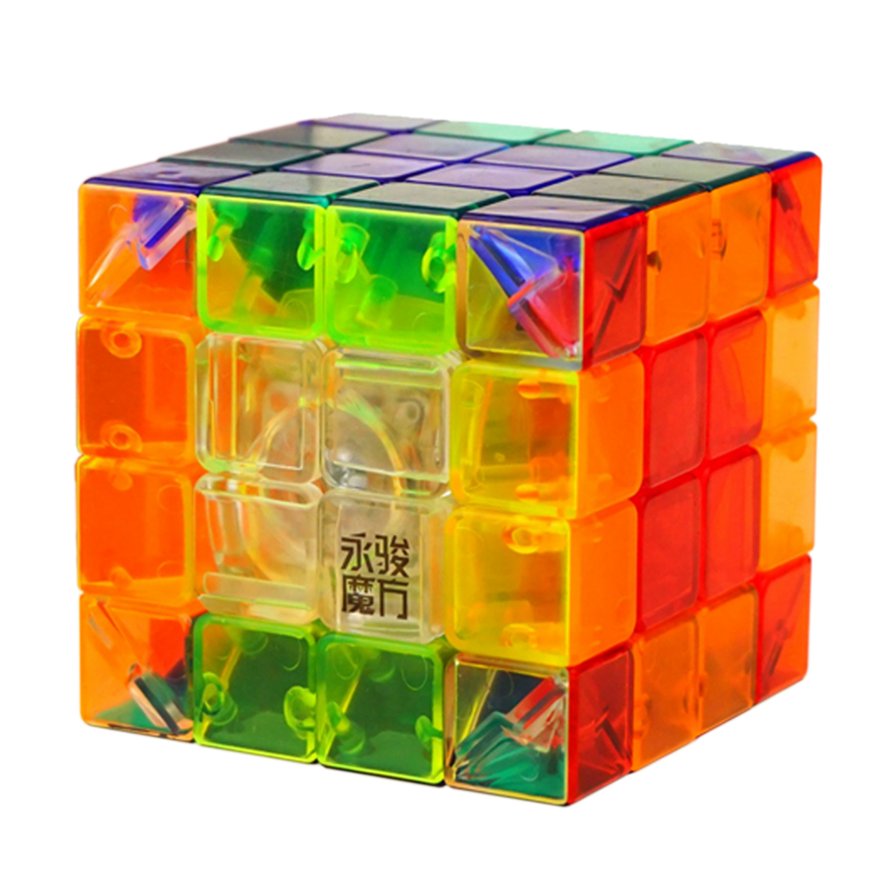 YJ 4 Layers 4*4 Pellucid Magic Cube Toys for Children YongJun Speed Hyaline Cubo Megico 4x4x4 Kids Antistress Games and Puzzles