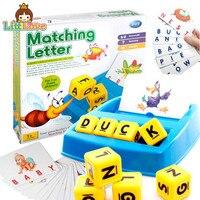 어린이 알파벳 퍼즐 게임 카드 영어 알파벳 문자 학습 장난감 어휘 단어 사진 일치 게임 교육 장난