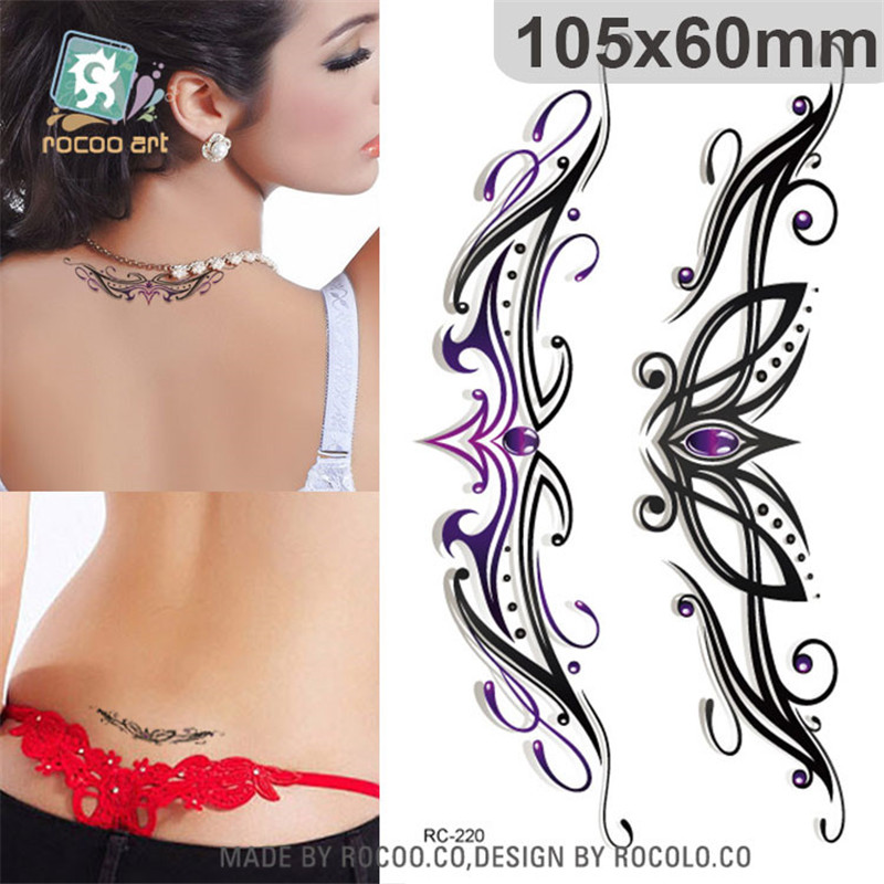 Individuality Waterproof Temporary Tattoos Paper For Lady Women 3d Sexy Crown Jewelry Design Tattoo Sticker RC2220
