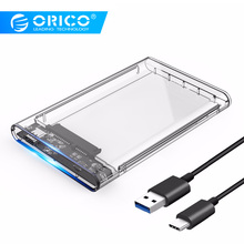 ORICO 2139C3 Hard Drive Enclosure UASP Type C 2.5 inch Transparent USB3.1 Support Protocol