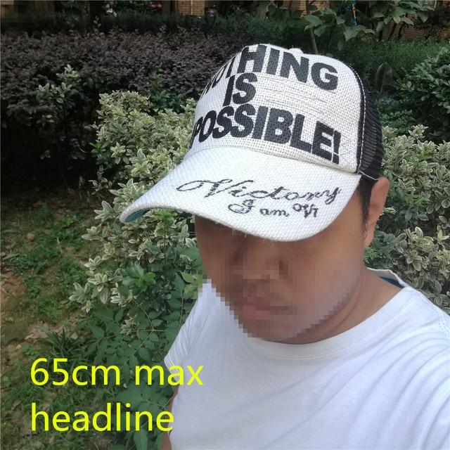 54a6468e868 ... 201772 65cm 64cm head XXL size summer linen CLOTH BIG plus SIZE  Breathable Snapback gimme Trucker ...