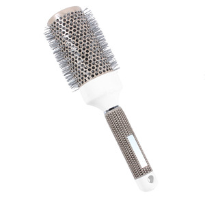 Image 5 - 5 Sizes Hair Styling Curle Comb Salon Brushes High Temperature Resistant Hair Brush Comb Hairdressing Ceramic Iron Round Comb