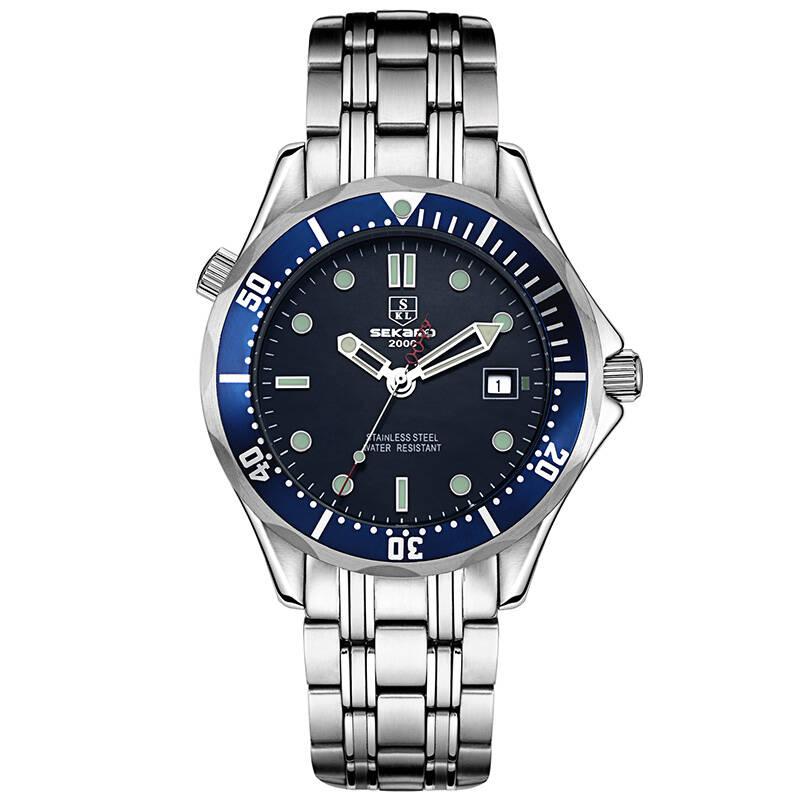 SEKARO 7018 Switzerland watches men luxury brand automatic mechanical watch military waterproof luminous James Bond 007 watches