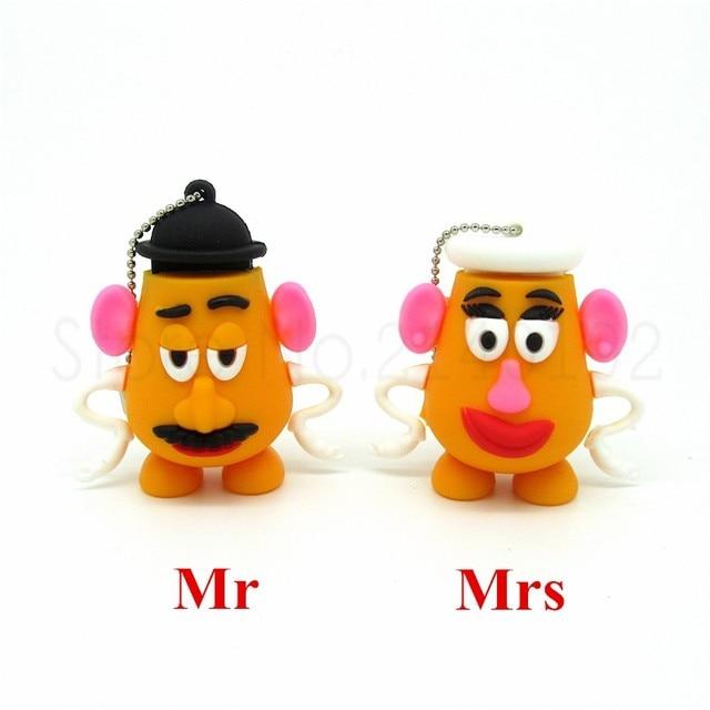 Toy story series Mr & Mrs potato head pen drive usb flash drive disk mini computer gift memory Stick pendrive 4GB 8GB 16GB 32GB