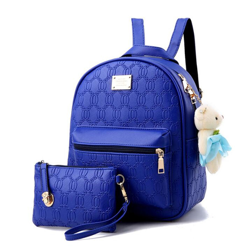 Fashion Women Leather Backpack Teenage Backpacks For Girls Vintage Feminine Backpack Bag Clutch Sac a Dos Femme Mochila Bolsas стоимость