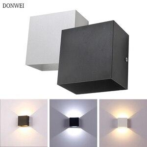 Image 2 - DONWEI applique murale en Aluminium LED, éclairage décoratif pour lintérieur, éclairage simpliste, pour chambre à coucher, escaliers, couloir, 12W, ac 110/mur LED V