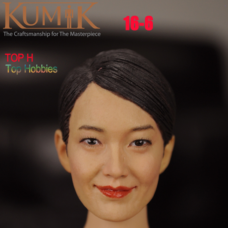 1/6 Scale Head Sculpt Model KUMIK 16-6 Hot Sideshow Toys TTL Enterbay Custom female Girl Fit 12 Inch Phicen Action FIgure Doll 1 6 scale figure accessories doll female head for 12 action figure doll head shape fit phicne