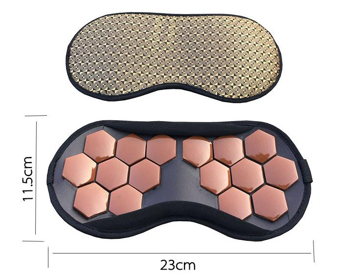 ФОТО Eye massager ms tomalin germanium stone blindfold jade of magnetic therapy and health protection shading sleep an eye mask