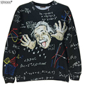 New brand fashion spring and Autumn style Great Einstein printed 3D thin sweatshirts men's slim pullover hoodies  W3