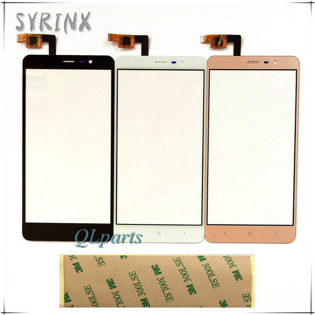 Syrinx With Tape Touch Screen Digitizer For Xiaomi Hongmi Redmi Note 3 Glass Touchscreen Sensor For Red Rice Note 3 Touch Panel