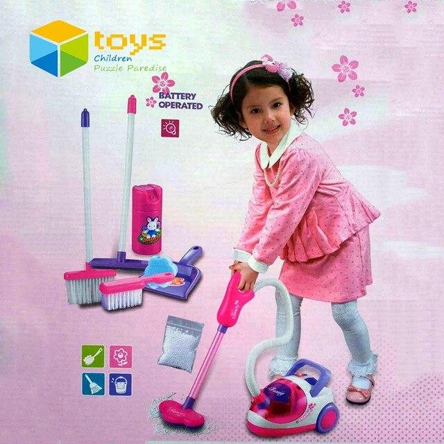 dbe2af7ed53f Drammi spedizione simulazione elettrodomestici giocattolo dei bambini  aspirapolvere mobili set giochi per bambini giocattoli educativi per