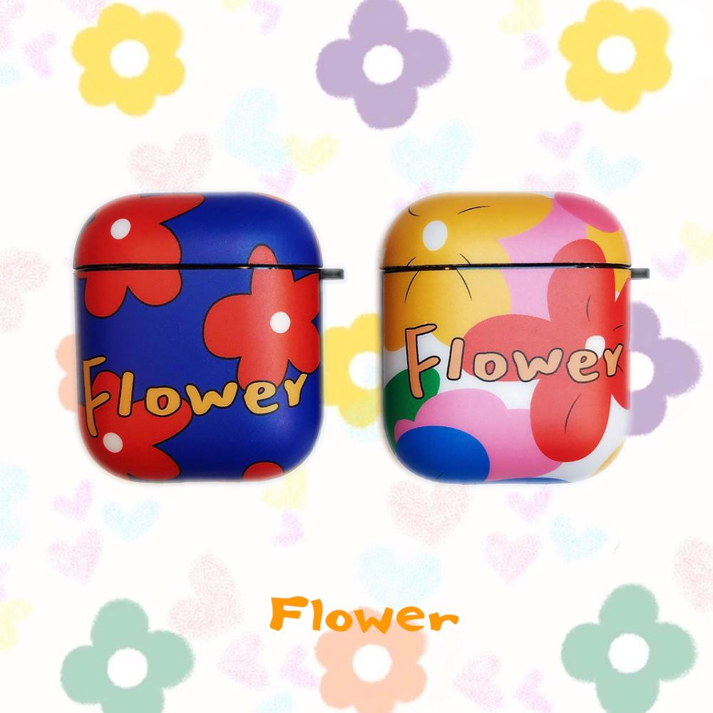 Cute Flower Wireless Bluetooth Earphone Case For Apple AirPods 2&1 Silicone Charging