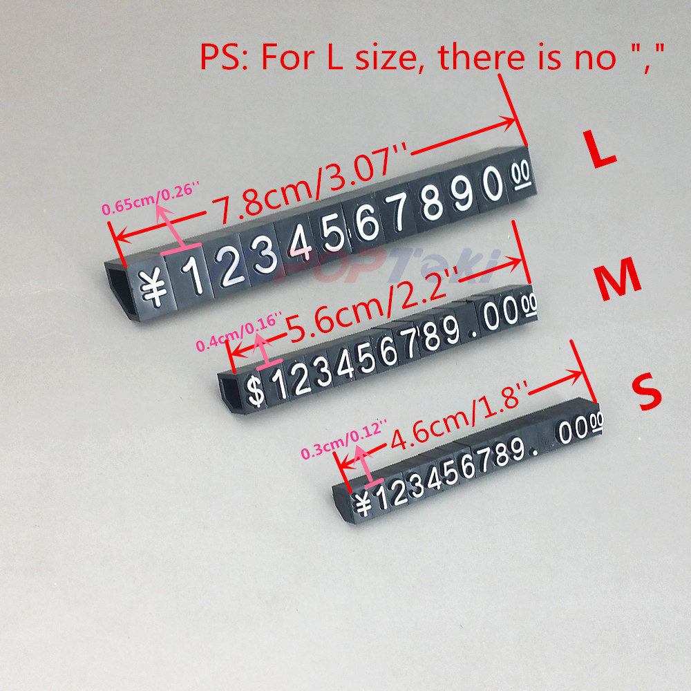 Plastic Jewelrys Minitype Numbers Price Marked Post Particle Bar