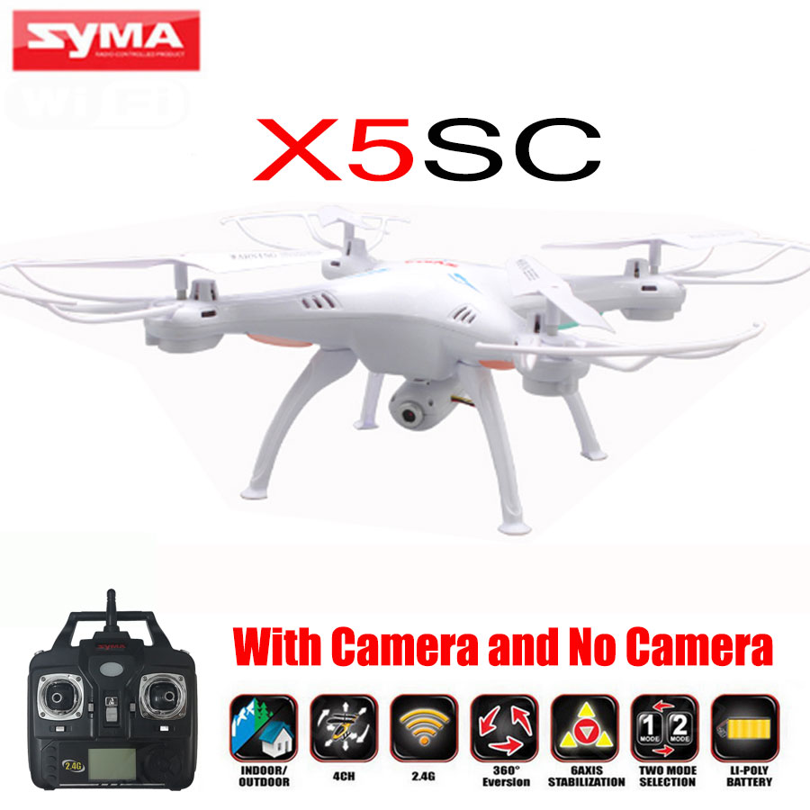 100 Original SYMA X5SC X5SC 1 Drone 2 4G 4CH 6Axis RC Quadrocopter Toys With 2MP