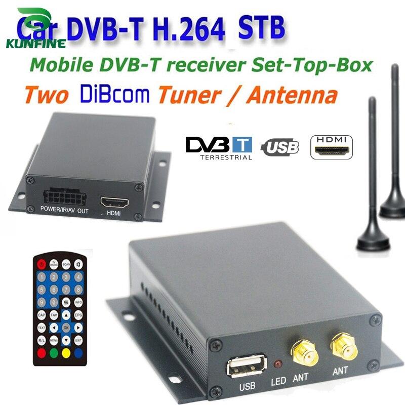 12 ~ 24 V voiture DVB-T TV box diversité 2 antenne MPEG2 MPEG4 H.264 STB