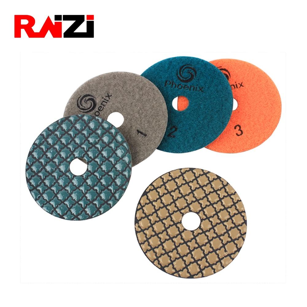 Dry Diamond Polishing Pads 4 Inch For Granite Concrete Marble Polish 0-5# 1Pc