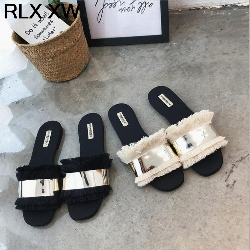Home 100% True Women Summer Cut Out Sandals Ladies Fashion Design Sandals Good Quality Flat Shoes Candy Color Outdoor Holiday Slides 34-43