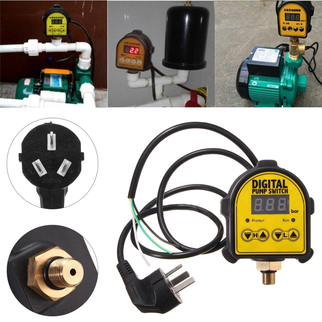 Digital Display Eletronic Pressure Controller Switch Air Pump for Water Pump Compressor Switch Water Pressure Switch Mayitr dmx512 digital display 24ch dmx address controller dc5v 24v each ch max 3a 8 groups rgb controller