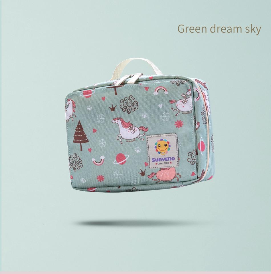 HTB1rGmMRNjaK1RjSZFAq6zdLFXaV Sunveno Baby Diaper Bags Maternity Bag for Disposable Reusable Fashion Prints Wet Dry Diaper Bag Double Handle Wetbags 21*17*7CM